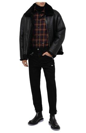 Мужская хлопковая рубашка DSQUARED2 разноцветного цвета, арт. S74DM0457/S52983 | Фото 2
