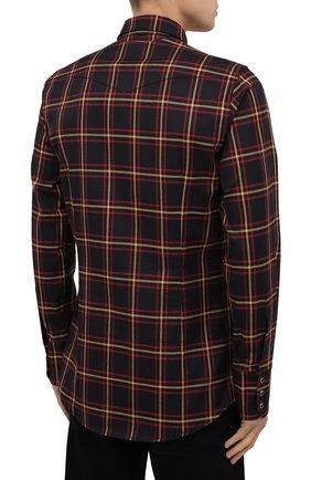Мужская хлопковая рубашка DSQUARED2 разноцветного цвета, арт. S74DM0457/S52983 | Фото 4