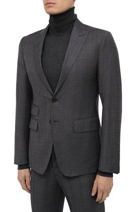Мужской шерстяной костюм DSQUARED2 темно-серого цвета, арт. S74FT0407/S53015 | Фото 2