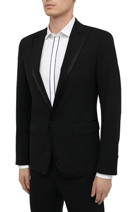 Мужской шерстяной смокинг DSQUARED2 черного цвета, арт. S74FT0413/S40320 | Фото 2