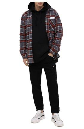 Мужской хлопковые брюки DSQUARED2 черного цвета, арт. S74KB0416/S30564 | Фото 2