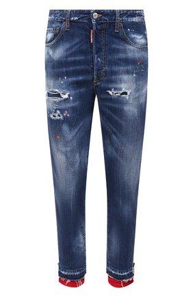 Мужские джинсы DSQUARED2 синего цвета, арт. S74LB0799/S30309 | Фото 1