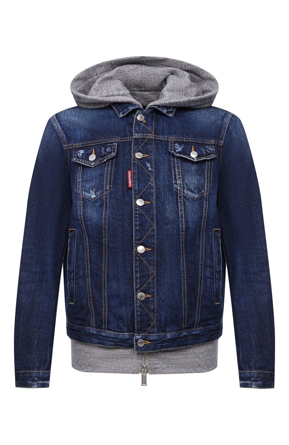 Мужская джинсовая куртка DSQUARED2 синего цвета, арт. S79AM0012/S30309 | Фото 1