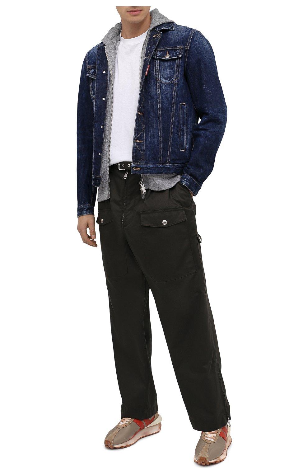 Мужская джинсовая куртка DSQUARED2 синего цвета, арт. S79AM0012/S30309 | Фото 3