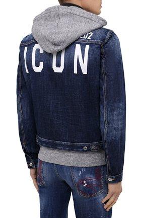 Мужская джинсовая куртка DSQUARED2 синего цвета, арт. S79AM0012/S30309 | Фото 5