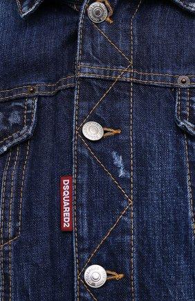 Мужская джинсовая куртка DSQUARED2 синего цвета, арт. S79AM0012/S30309 | Фото 6