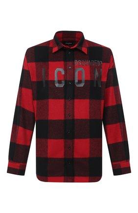 Мужская рубашка DSQUARED2 красного цвета, арт. S79DL0007/S53139 | Фото 1