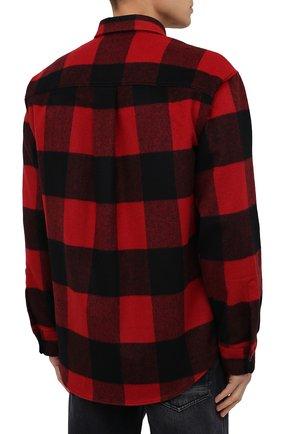 Мужская рубашка DSQUARED2 красного цвета, арт. S79DL0007/S53139 | Фото 4