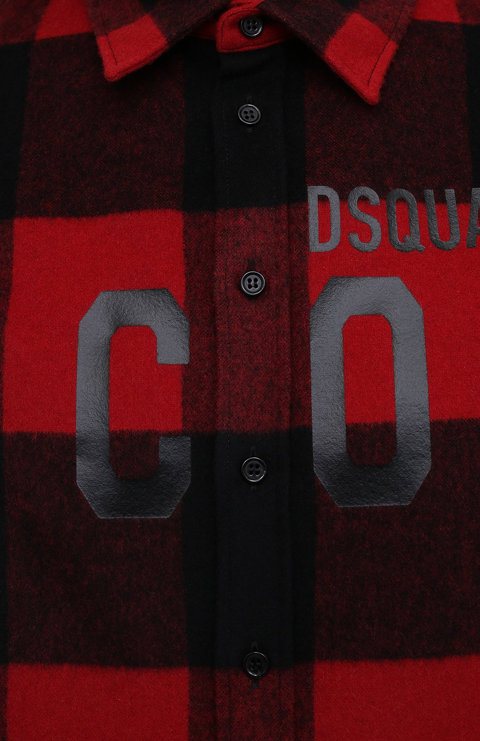 Мужская рубашка DSQUARED2 красного цвета, арт. S79DL0007/S53139 | Фото 5