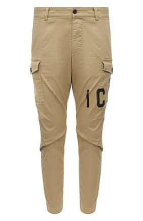 Мужской хлопковые брюки-карго DSQUARED2 бежевого цвета, арт. S79KA0003/S39021 | Фото 1