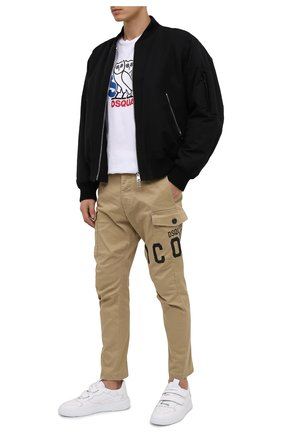 Мужской хлопковые брюки-карго DSQUARED2 бежевого цвета, арт. S79KA0003/S39021 | Фото 2