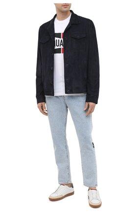 Мужская хлопковая футболка DSQUARED2 белого цвета, арт. S71GD0981/S22427 | Фото 2