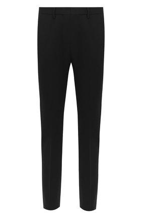 Мужские шерстяные брюки DSQUARED2 черного цвета, арт. S71KB0290/S40320   Фото 1 (Материал внешний: Шерсть; Длина (брюки, джинсы): Стандартные; Случай: Повседневный; Стили: Кэжуэл)