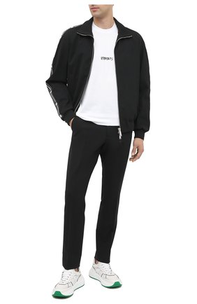 Мужские шерстяные брюки DSQUARED2 черного цвета, арт. S71KB0290/S40320   Фото 2 (Материал внешний: Шерсть; Длина (брюки, джинсы): Стандартные; Случай: Повседневный; Стили: Кэжуэл)