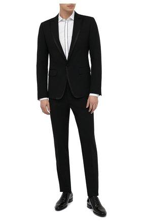 Мужская хлопковая сорочка DSQUARED2 белого цвета, арт. S74DM0421/S35244   Фото 2