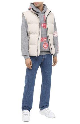 Мужской хлопковое худи DSQUARED2 серого цвета, арт. S74GU0415/S25463 | Фото 2