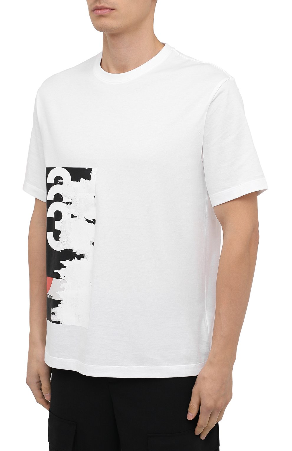 Мужская хлопковая футболка Y-3 белого цвета, арт. GK4389/M | Фото 3
