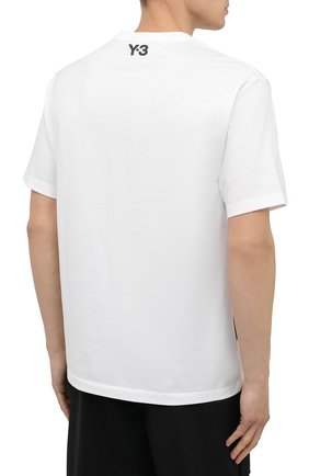 Мужская хлопковая футболка Y-3 белого цвета, арт. GK4389/M | Фото 4