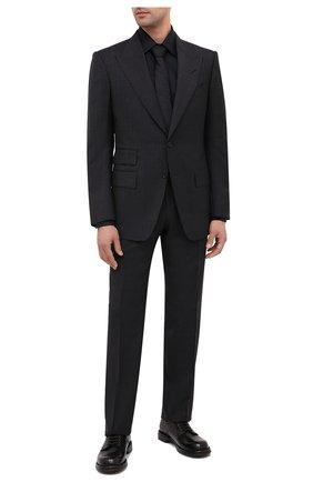 Мужской шерстяной костюм TOM FORD темно-серого цвета, арт. 811R16/21AL43 | Фото 1