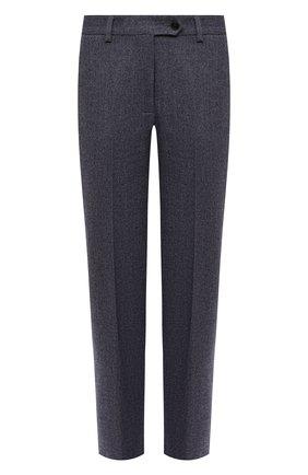Женские шерстяные брюки KITON синего цвета, арт. D48125K05T39 | Фото 1