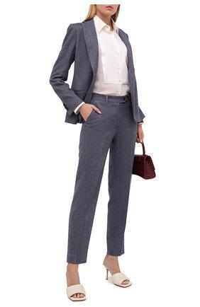 Женские шерстяные брюки KITON синего цвета, арт. D48125K05T39 | Фото 2