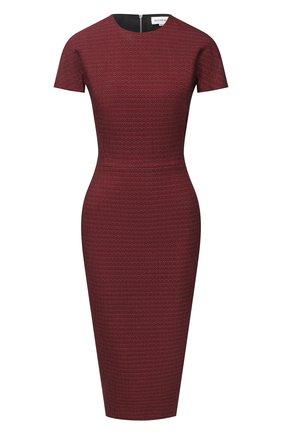Женское хлопковое платье VICTORIA BECKHAM бордового цвета, арт. 1320WDR001759A | Фото 1