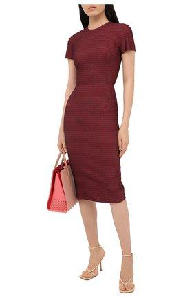 Женское хлопковое платье VICTORIA BECKHAM бордового цвета, арт. 1320WDR001759A | Фото 2