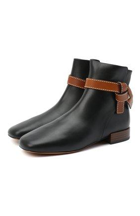 Женские кожаные ботинки gate 25 LOEWE черного цвета, арт. L815286X01 | Фото 1