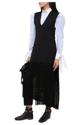 Женские кожаные ботинки gate 25 LOEWE черного цвета, арт. L815286X01 | Фото 2