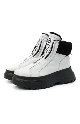 Женские кожаные ботинки BOGNER белого цвета, арт. 203-K923/BANFF 3A | Фото 1