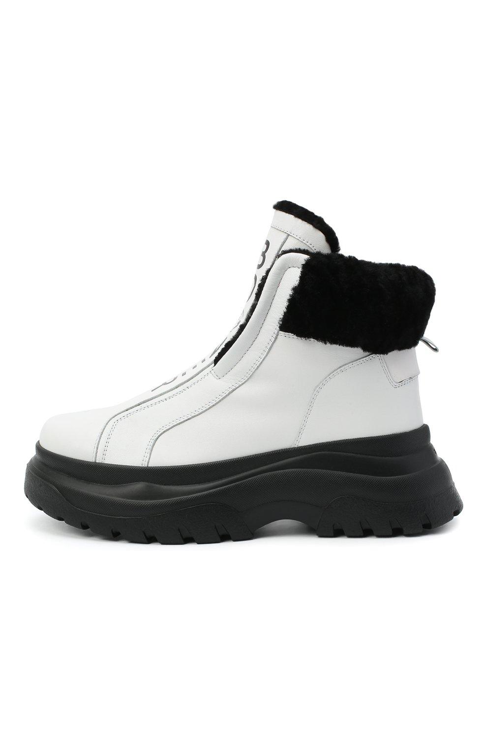 Женские кожаные ботинки BOGNER белого цвета, арт. 203-K923/BANFF 3A | Фото 3