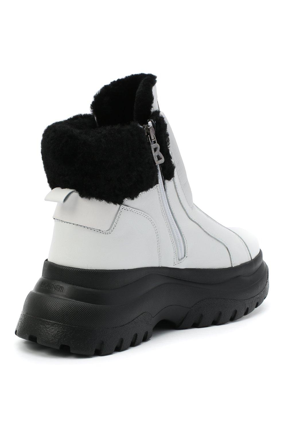 Женские кожаные ботинки BOGNER белого цвета, арт. 203-K923/BANFF 3A | Фото 4