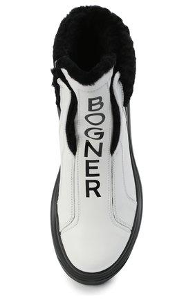 Женские кожаные ботинки BOGNER белого цвета, арт. 203-K923/BANFF 3A | Фото 5