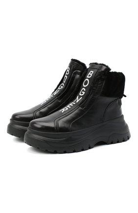 Женские кожаные ботинки BOGNER черного цвета, арт. 203-K923/BANFF 3A | Фото 1