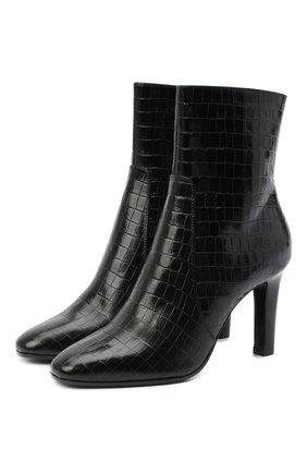 Женские кожаные ботильоны jane SAINT LAURENT черного цвета, арт. 632468/1YQ00   Фото 1