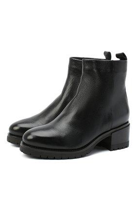 Женские кожаные ботинки SANTONI черного цвета, арт. WTDY58953SM1A0TDN01 | Фото 1