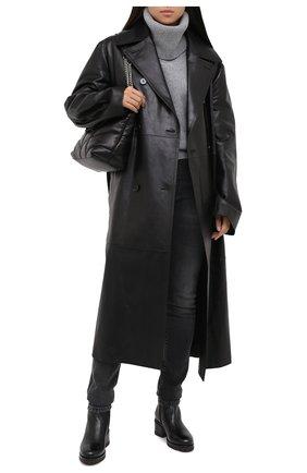 Женские кожаные ботинки SANTONI черного цвета, арт. WTDY58953SM1A0TDN01 | Фото 2