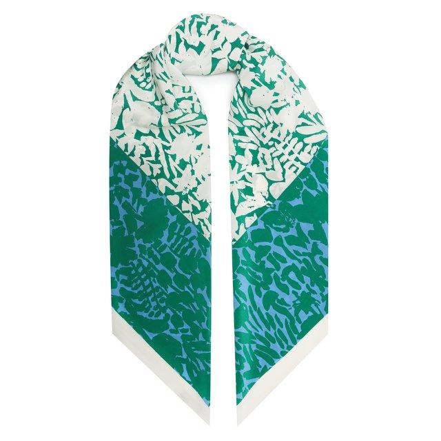 Шелковый шарф Floral Markings St. John