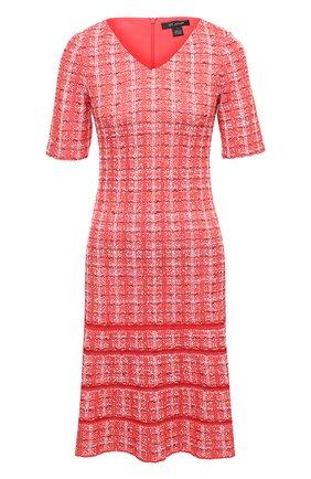 Женское платье из шерсти и вискозы ST. JOHN красного цвета, арт. K1100G2 | Фото 1