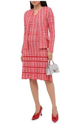 Женское платье из шерсти и вискозы ST. JOHN красного цвета, арт. K1100G2 | Фото 2