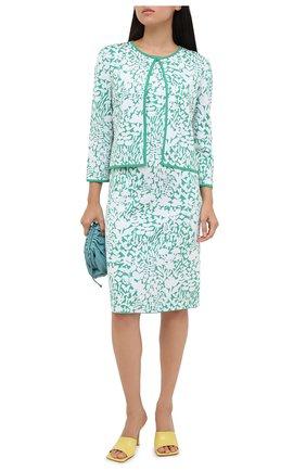 Женское платье из вискозы ST. JOHN зеленого цвета, арт. K1100N1 | Фото 2
