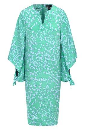 Женское шелковое платье ST. JOHN зеленого цвета, арт. K110W91 | Фото 1