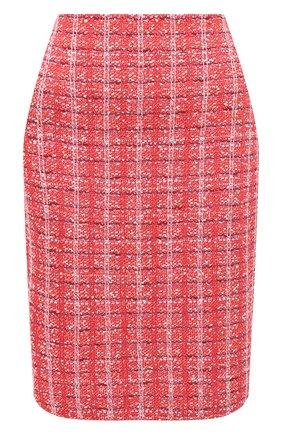 Женская юбка ST. JOHN красного цвета, арт. K7100K2 | Фото 1