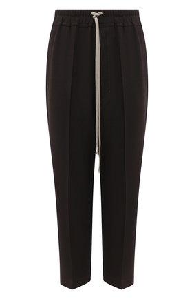 Женские брюки из шерсти и вискозы RICK OWENS коричневого цвета, арт. RP20F2303/WE   Фото 1