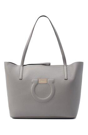Женский сумка-тоут gancini medium SALVATORE FERRAGAMO серого цвета, арт. Z-0732508 | Фото 1