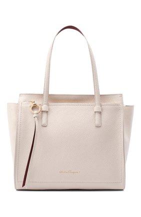 Женский сумка double handle  SALVATORE FERRAGAMO бежевого цвета, арт. Z-0732928 | Фото 1