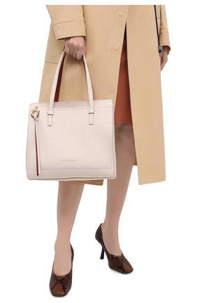 Женский сумка double handle  SALVATORE FERRAGAMO бежевого цвета, арт. Z-0732928 | Фото 2