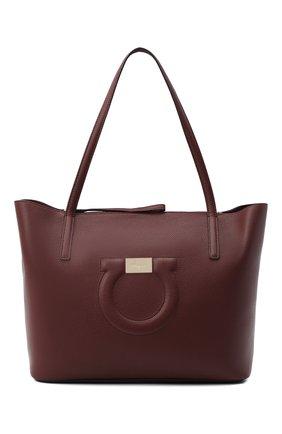 Женский сумка-тоут gancini medium SALVATORE FERRAGAMO бордового цвета, арт. Z-0732507 | Фото 1