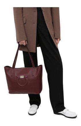 Женский сумка-тоут gancini medium SALVATORE FERRAGAMO бордового цвета, арт. Z-0732507 | Фото 2