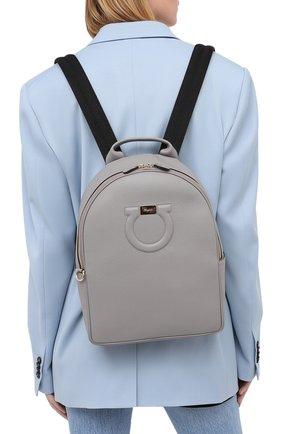 Женский рюкзак SALVATORE FERRAGAMO серого цвета, арт. Z-0737564 | Фото 2
